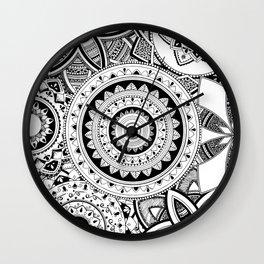 Mandalas in a lace Wall Clock