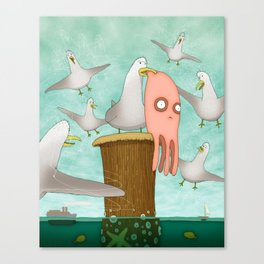 Poor Little Calamari Canvas Print