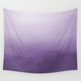 Inspired by Pantone Chive Blossom Purple 18-3634 Watercolor Abstract Art Wall Tapestry