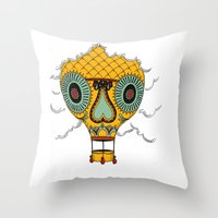 balloon Throw Pillows featuring Balloon by Johan Renklint