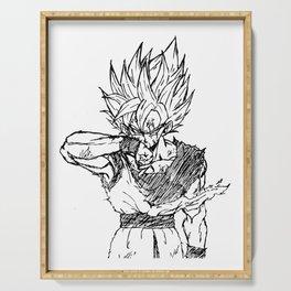Super Saiyan Son Goku Drawing Serving Tray
