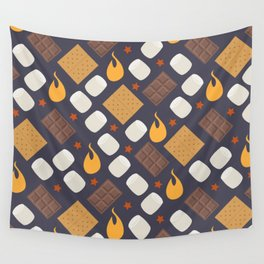 Smores on the Campfire Wall Tapestry