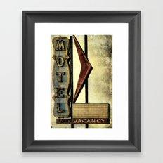 Vintage Arrow Motel Sign Framed Art Print