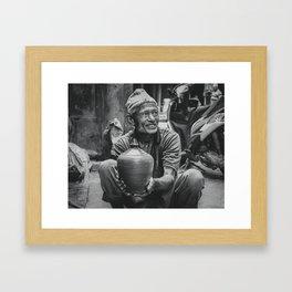 The Locals of Kathmandu City 001 Framed Art Print