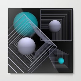 go turquoise -12- Metal Print