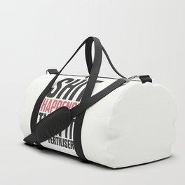 Motivational quote, shit happens, turn it into fertiliser, inspirational sayings, humor, positive vi Duffle Bag