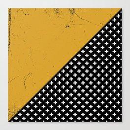 Swiss crosses (grunge) Canvas Print