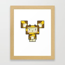 Cute Cartoon Blockimals Giraffe Framed Art Print