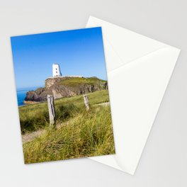 Pathway to lighthouse,Llanddwyn Island, Anglesey, Wales Stationery Cards