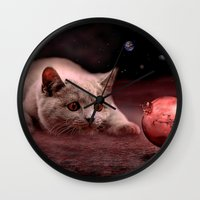 bruno mars Wall Clocks featuring Mouse on Mars by teddynash