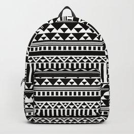 Mountain Stripe Kilim in Black + White Backpack