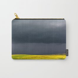 Simply Spring - Thunderstorm Over Yellow Fields in Oklahoma Carry-All Pouch