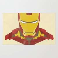 iron man Area & Throw Rugs featuring IRON MAN by LindseyCowley