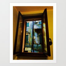 Window to the Rain Art Print