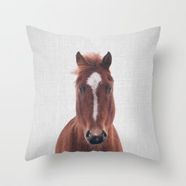 Horse II - Colorful Throw Pillow