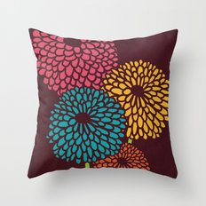 Still Life Chrysanthemum Throw Pillow