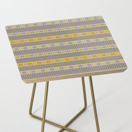 Granny's Fairisle - Honey Yellow Side Table