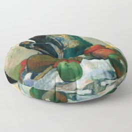 Still Life with Profile of Laval by Paul Gauguin Floor Pillow