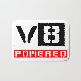 V8 powered red Bath Mat