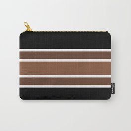 TEAM COLORS 2.....brown,black and white Carry-All Pouch