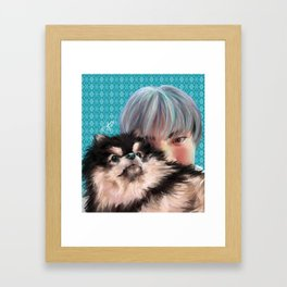Jin x Yeontan Framed Art Print