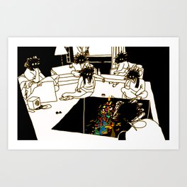 Who made the brownie that we ate a few minutes ago? Art Print