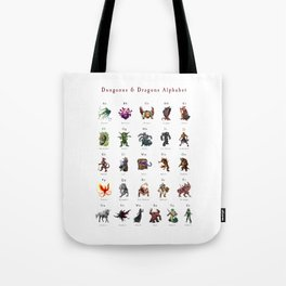 Monster Alphabet Tote Bag