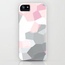 geometric mix/ grey  iPhone Case