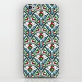 Bluebird Art Deco Pattern  iPhone Skin