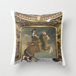 Dog and Pony Show Throw Pillow