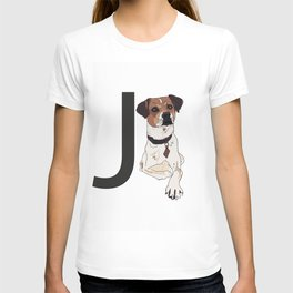 J is for Jack Russell Terrier Dog T-shirt