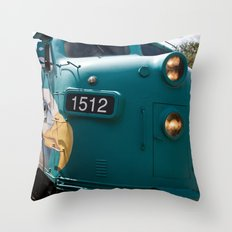 Train In Your Face Throw Pillow