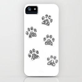 Cat tracks iPhone Case