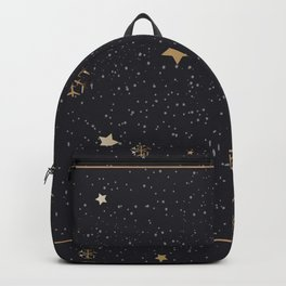 Winter Pattern with Hand Drawn Winter Elements Backpack