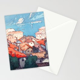 Lugano by Hiroshi Yoshida - Japanese Vintage Ukiyo-e Woodblock Painting - Europe Series Stationery Cards