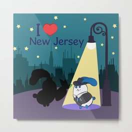 Ernest and Coraline | I love New Jersey Metal Print