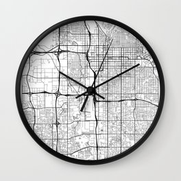 Salt Lake City Map White Wall Clock