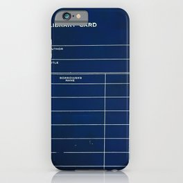 Library Card BSS 28 Negative iPhone Case
