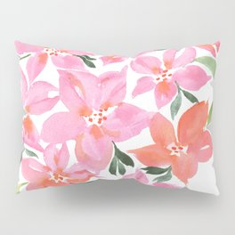 Pink Orchids Pillow Sham