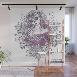 Sexy Woman zombie WITH Flower - KOBI Wall Mural