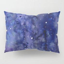 Night Sky Galaxy Nebula Stars Watercolor Space Texture Pillow Sham