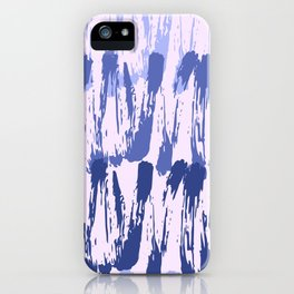 Navy blue lavender watercolor abstract hand painted brushstrokes iPhone Case