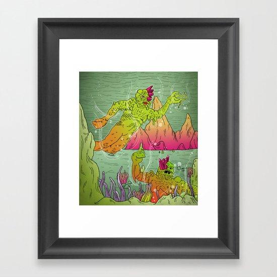 Fantastic Caverns! Framed Art Print