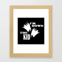 DOWN THE KID  Framed Art Print