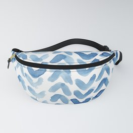 Blue Chevron Watercolour Fanny Pack