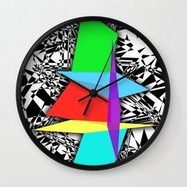 Color Sculpture Wall Clock