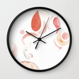 Happy and soft rounded shapes Wall Clock