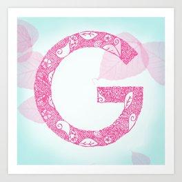 Floral Letter 'G' Art Print