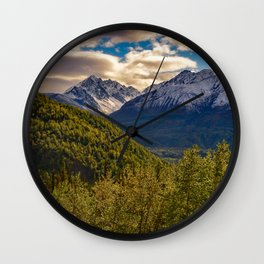 Termination Dust - Glenn Highway, Alaska Wall Clock