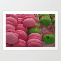 macaroon Art Prints featuring Cracked Macaroon by Gypsy Girl Art